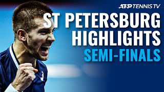 Rublev, Coric Fight Back To Reach Final! | St Petersburg 2020 Semi-Final Highlights