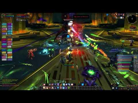 World of warcraft beta Raid testing ! Zek'voz, Herald of N'zoth ( fire, frost mage PoV )