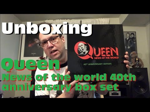 UNBOXING : Queen - News of the world 40th anniversary Deluxe Box Set
