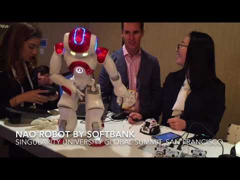 NAO Robot by Softbank at the Singularity University Global Summit San Francisco