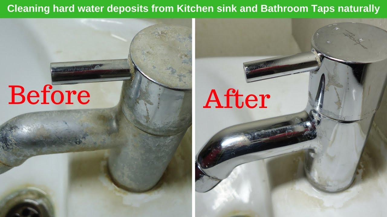 how to clean bathroom and kitcken taps clean hard water deposits from a faucet kitchen tips