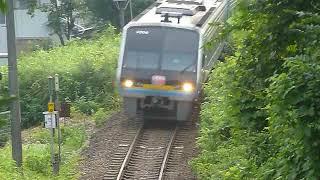 [警笛あり]JR四国 2000系 特急しまんと1号 阿波池田駅付近通過