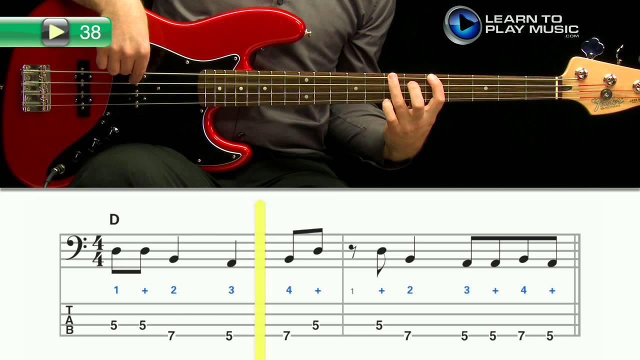 ex038 how to play bass guitar bass guitar lessons for beginners youtube. Black Bedroom Furniture Sets. Home Design Ideas
