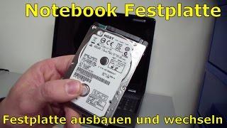 Notebook Festplatte ausbauen und wechseln