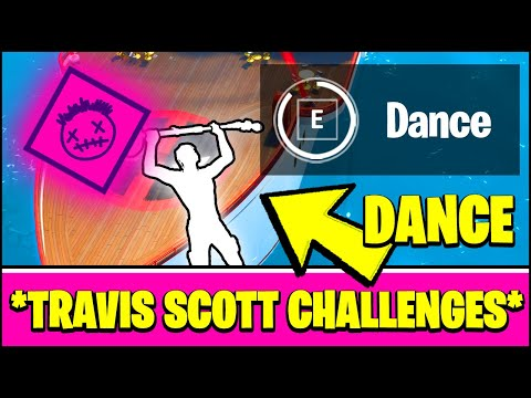 ALL TRAVIS SCOTT ASTRONOMICAL CHALLENGES  - DANCE FOR 10S ON THE DANCE FLOOR AT THE YACHT (Fortnite)