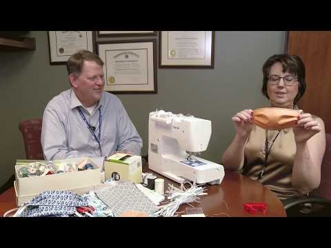 How to make a face mask for doctors, nurses and health care workers - COVID-19 - Deaconess Hospital