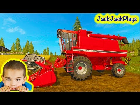 Tractors for Children: Playing Farming Simulator 17 Game, Ep.1