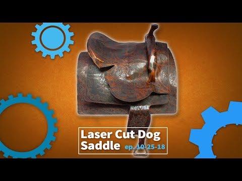 Inside the Laser Lab - Laser Cut Leather Dog Saddle