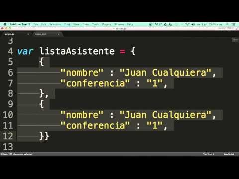 Javascript Arreglos De Objetos En Json Youtube