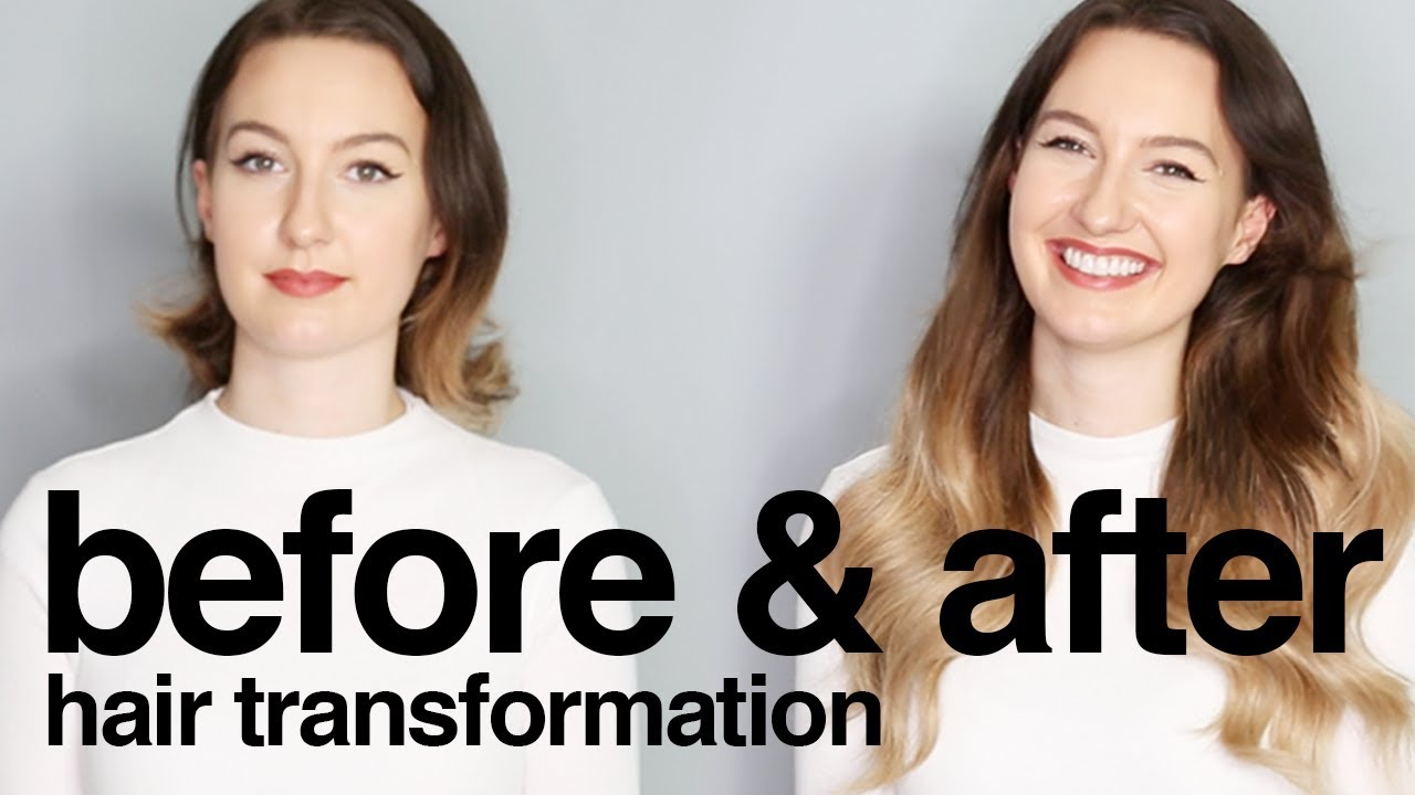 Before After Hair Transformation Using Hair Extensions Milk