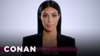 kim kardashian s super bowl ad world premiere conan on tbs
