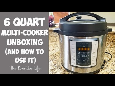 insignia 6 quart multi-cooker unboxing (and learning how