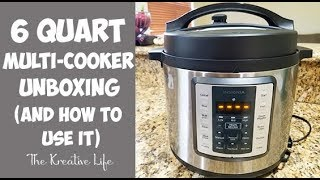 Insignia 6 Quart Multi-Cooker Unboxing (and Learning How to Use a Pressure Cooker)