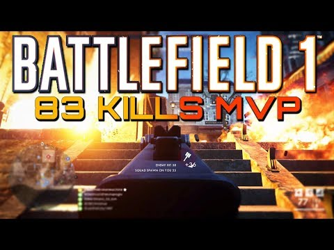 Battlefield 1: 83 Kills with the New SMG! (PS4 PRO Multiplayer Gameplay)
