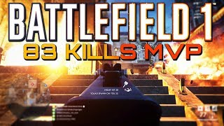 Battlefield 1: 83 Kills with the New SMG! (PS4 PRO Multiplayer Gameplay) thumbnail
