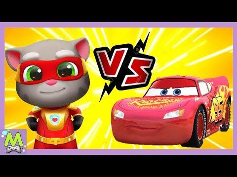 Говорящий Том Погоня Героев Vs Тачки 3:Молния Маккуин.Супергерои против Супертачек.Кто Круче?