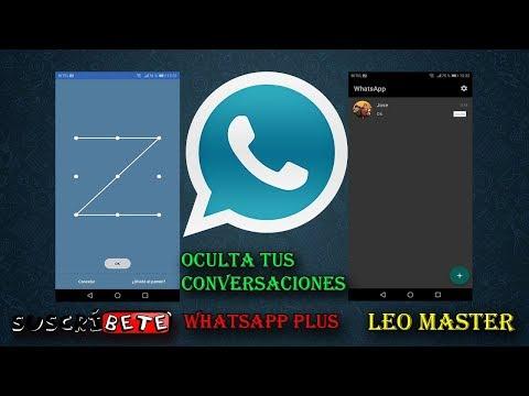 ESPÍA WhatsApp Plus: Truco ¡Ocultar Contacto CONTRASEÑA 2018