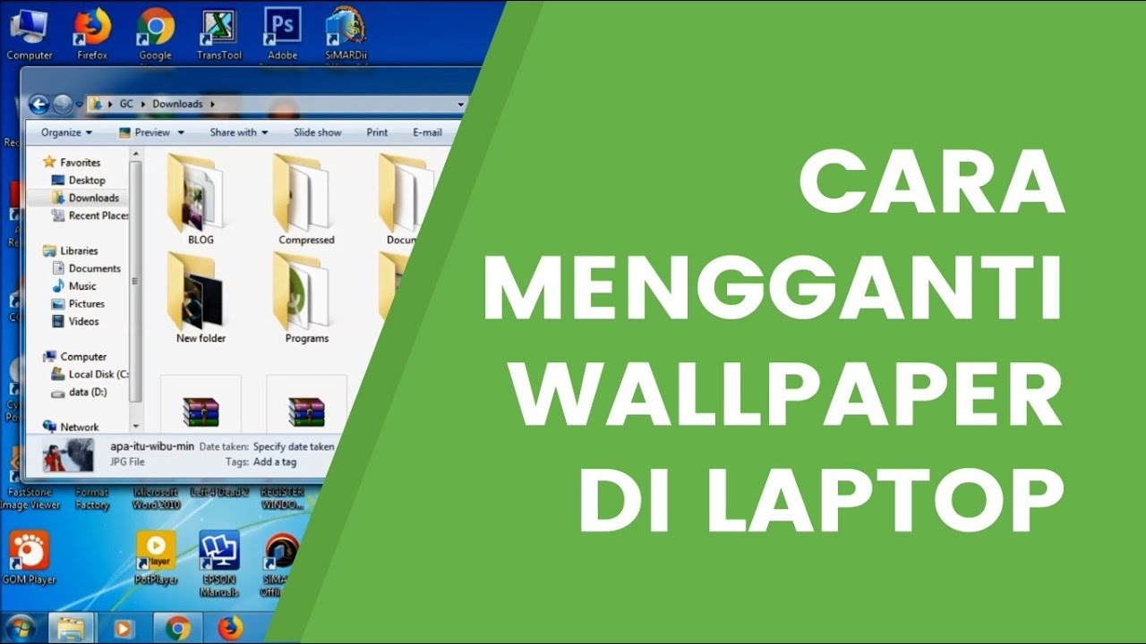 Cara Merubah Wallpaper Di Windows 7 Starter Home Edition Youtube