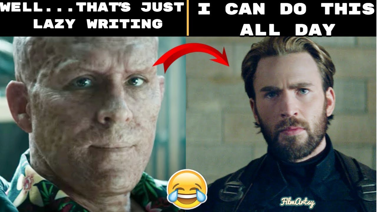 Deadpool Makes Fun of Popular Avengers Dialogues - That's Just Lazy Writing