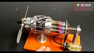 牛人发明的16缸气动力斯特灵发动机、启动起来那一刻我被征服了! thumbnail