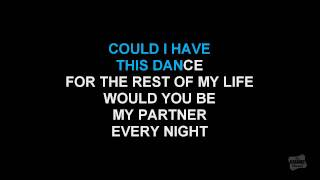 Could I Have This Dance in the style of Anne Murray karaoke video with lyrics