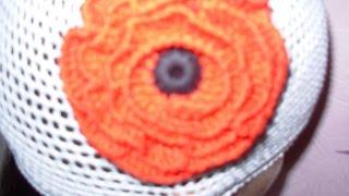 Вязание летней шапочки сеточкой  крючком 1,2,3,4 ряд.