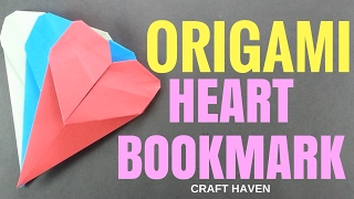 How To Make Origami Heart Bookmark ♥︎ Paper Heart Instructions ♥︎ Simple & Easy Origami Tutorials
