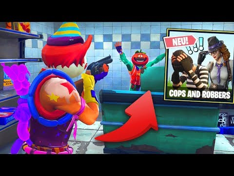 Wir ÜBERFALLEN einen LADEN *NEU* COPS and ROBBERS Modus in FORTNITE