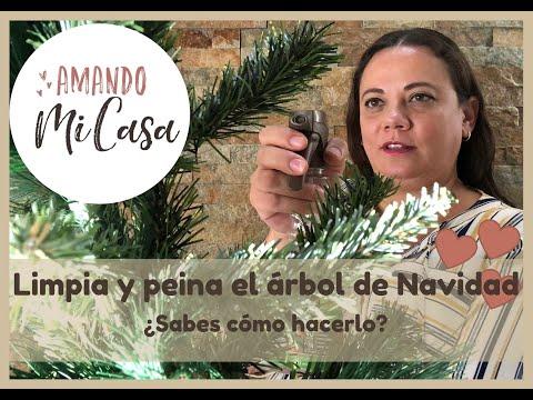 Limpia y peina tu árbol de Navidad / Amando mi Casa