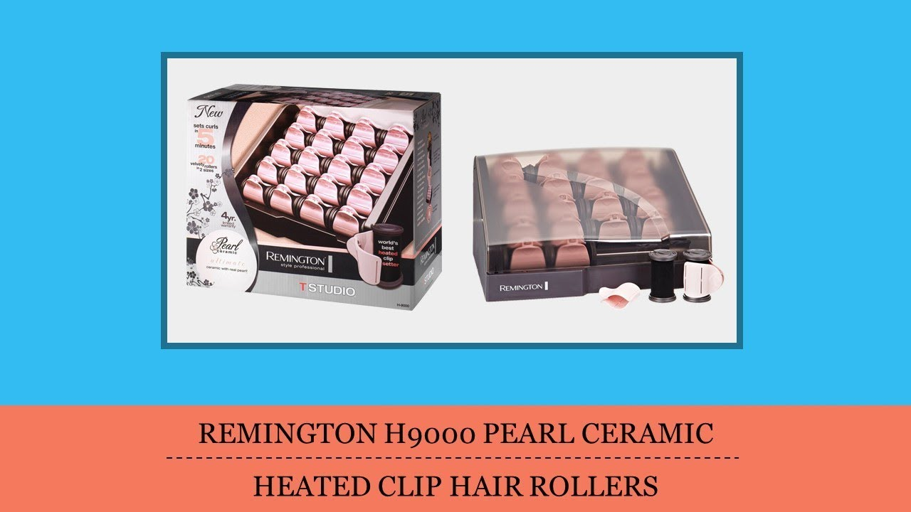 Remington H9000 Pearl Ceramic Heated Clip Hair Rollers Review