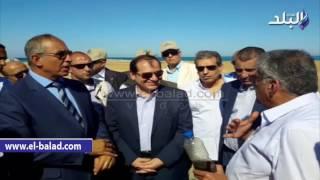بالفيديو والصور.. وزير البترول ومحافظ البحر الأحمر يتفقدان حقول 'مجاويش' بالغردقة