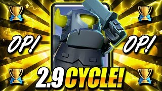 INSANE!! 2.9 HYPER FAST CYCLE DECK DESTROYS META!! - Clash Royale