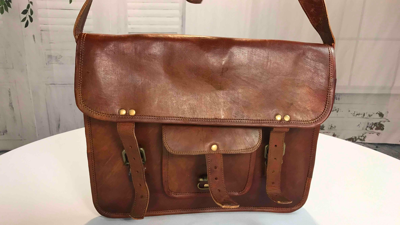 1786175433bb Real Goat Leather Laptop Messenger Bag Briefcase Satchel by handmadecraft  review