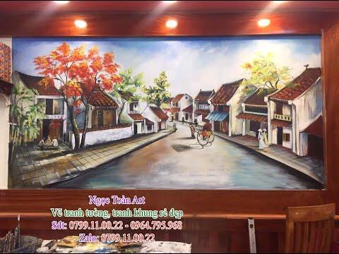 Vẽ tranh tường phố cổ Hà Nội, vẽ tranh tường cầu Long Biên tại Hà Nội
