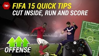 FIFA 15 Quick Tips | Cut inside, run and score | Dribbling Tutorial | How to beat the defender