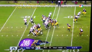 John Brown #13 71yd run Ravens/Steelers