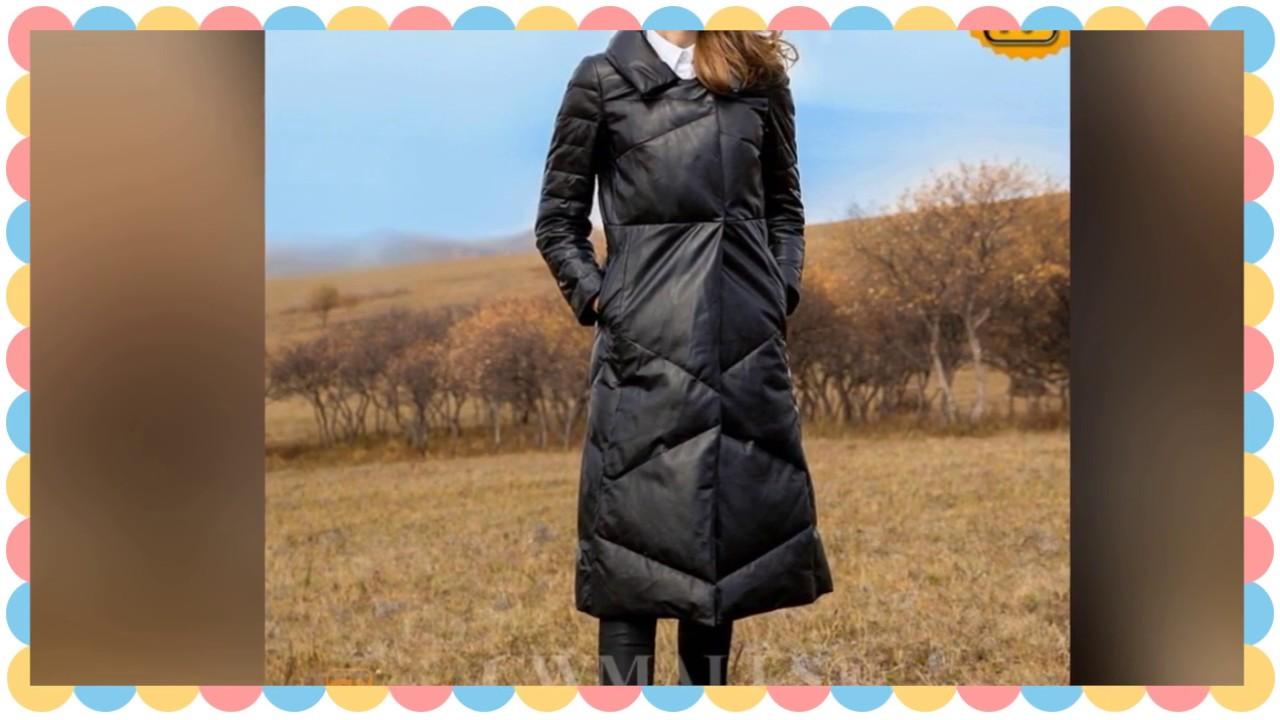 245d6e451 Women's Black Long Leather Down Coat CW651005 | jackets.cwmalls.com