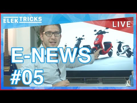 E-News #05 NewMotion, Plugsurfing, Nissan Leaf 2.0, Mercedes Benz EQ, BMW i3, NIU M1, Audi Solar