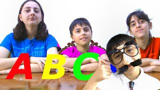 ABCD in the morning brush your teeth - Learn English Alphabet with Guka Family Show