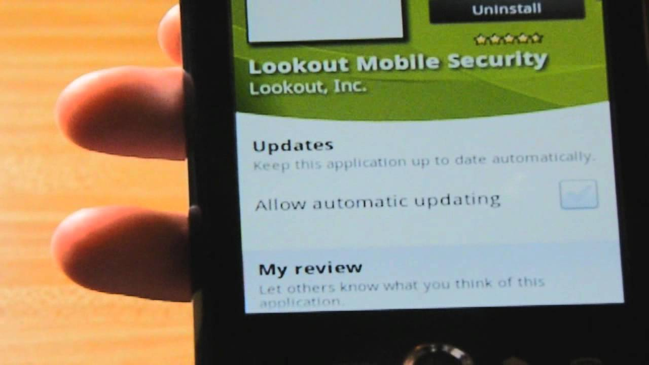 Android Phones: How to install Lookout Mobile Security