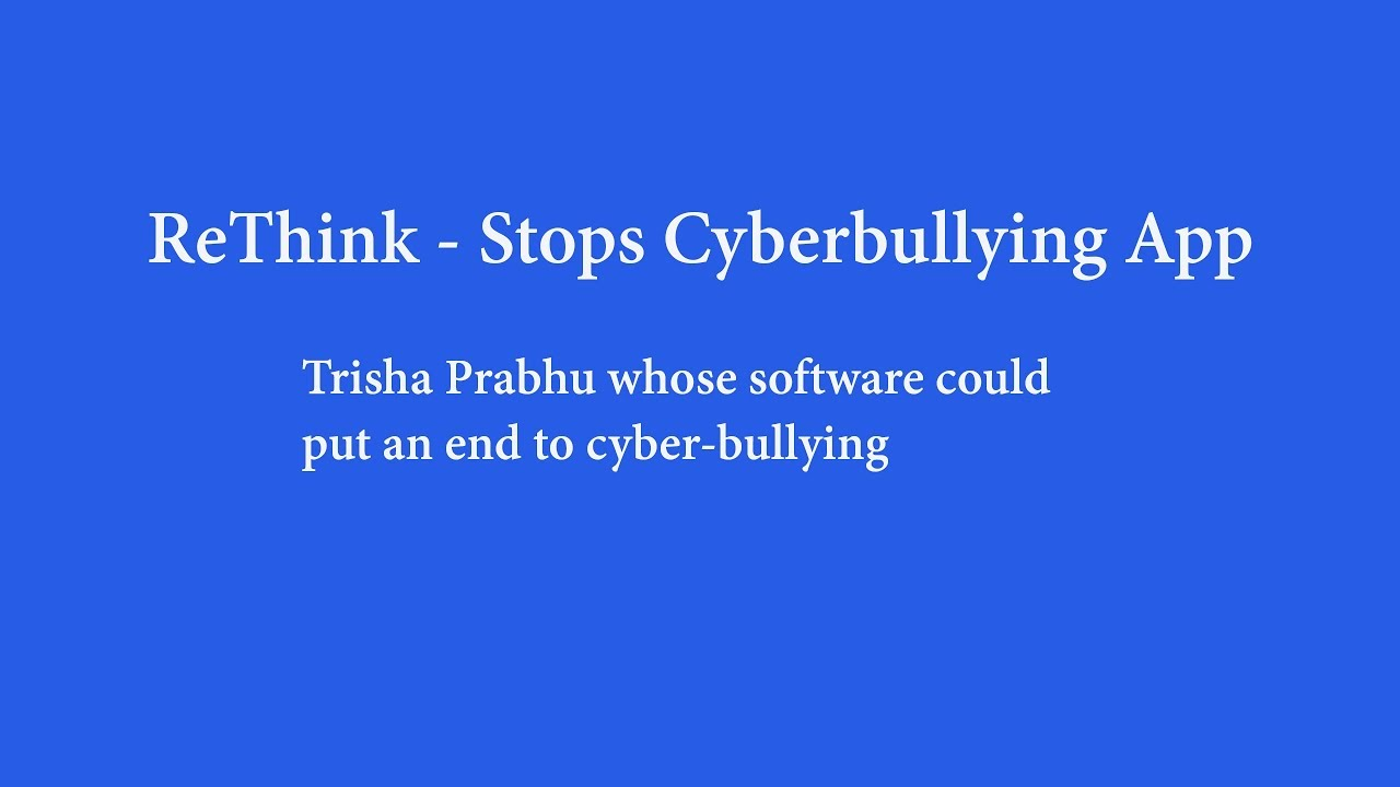 Download Rethink: An effective way to stop cyberbullying