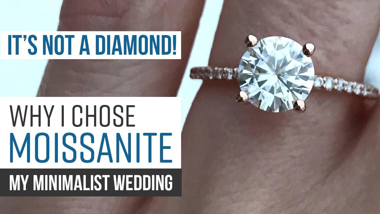 My Minimalist Wedding   Why I Chose a Forever One Moissanite Ring   Forever  One Moissanite Review