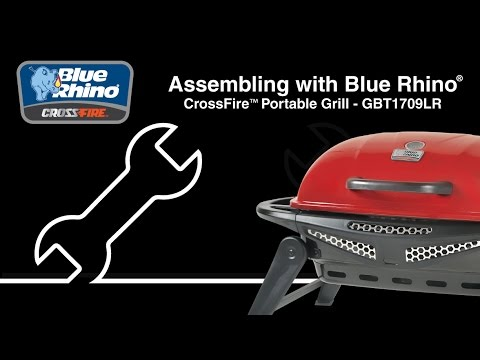 Delightful Blue Rhino® CrossFire™Hybrid Propane And Charcoal Grill (model GBT1709LR)  Assembly Tips