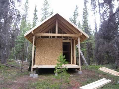 200 sq ft hunting cabin youtube for Hunting cabin house plans