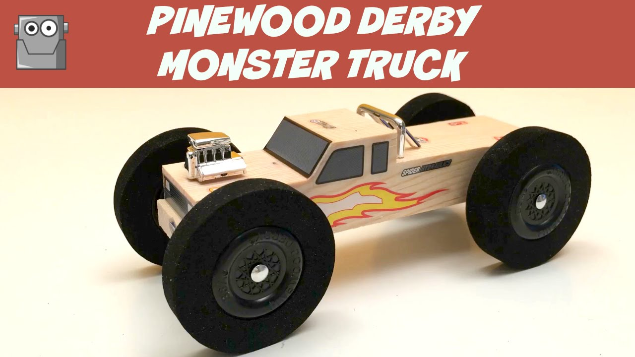 Pinewood Derby Monster Truck Youtube