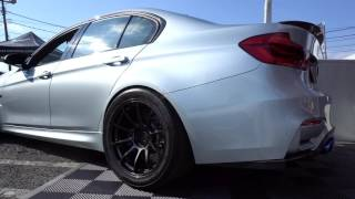 loudest 600 hp bmw f80 m3   armytrix straight pipe exhaust kw suspension