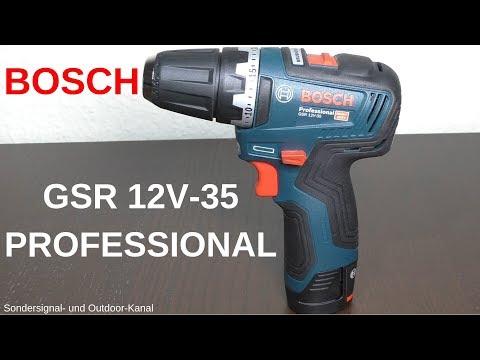 [XXL REVIEW] BOSCH GSR 12V-35 Professional Akku-Bohrschrauber | Sondersignal- und Outdoor-Kanal