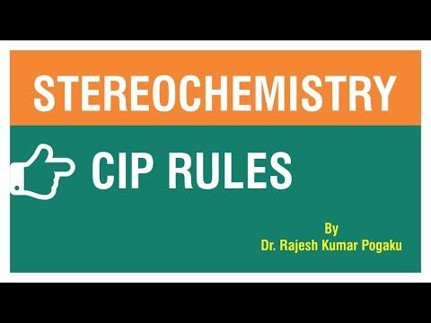 STEREOCHEMISTRYCIP RULES  BY Dr RAJESH KUMAR POGAKU