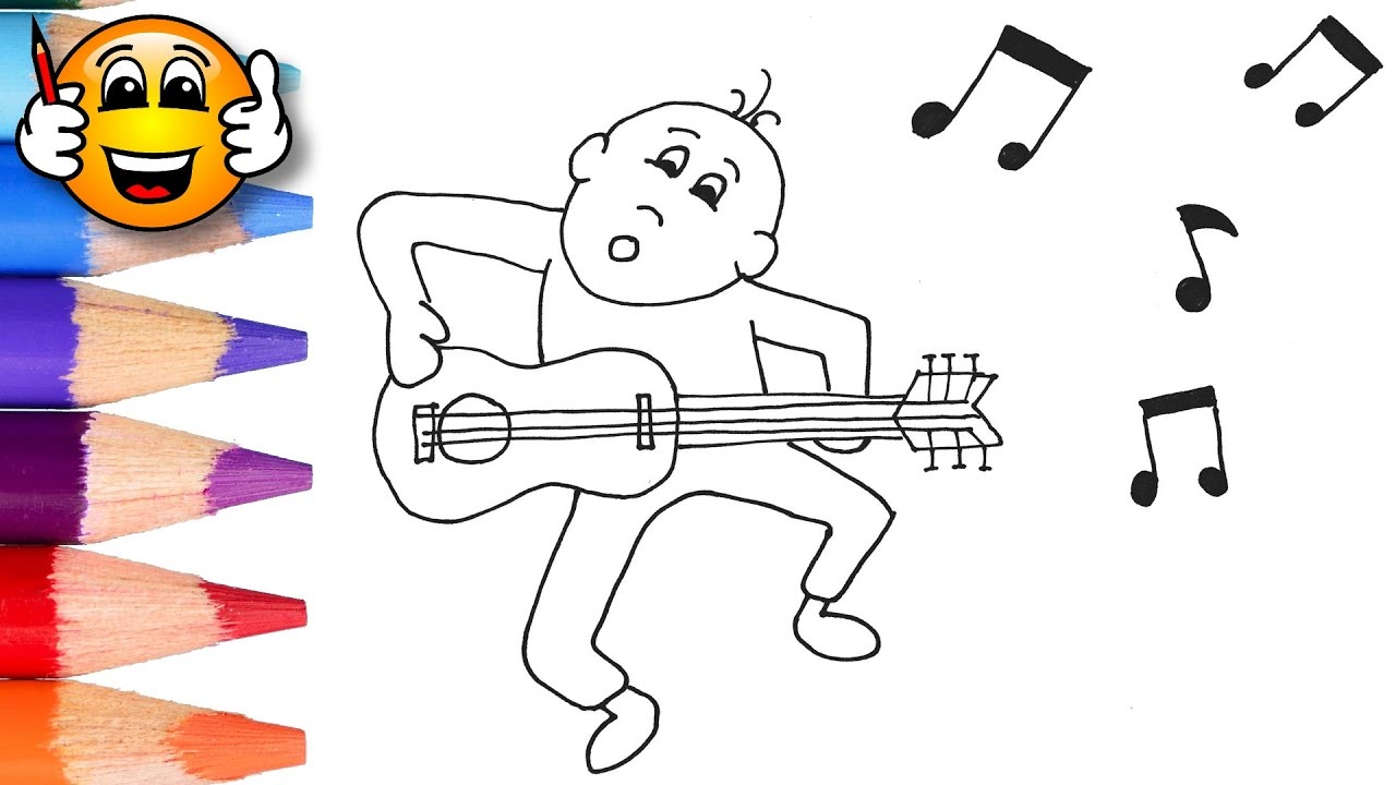 Coloring Pages For Kids Man Singing Dancing | Coloring for Kids ...