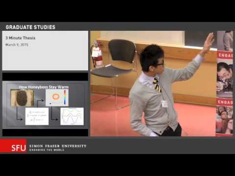 Jeremy Chiu: Thermoregulation of Swarming Honeybees, 3MT 2015, SFU